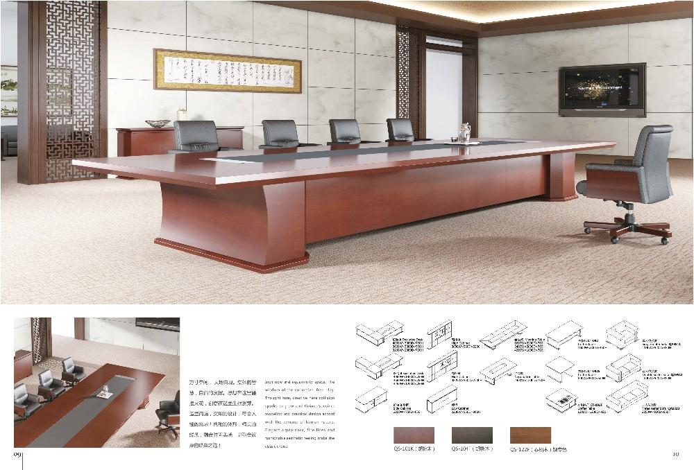 Bureau de luxe en bois avec placage de teck en thaïlande mobilier