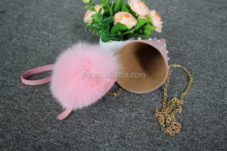 Customized Size High Quality Fur Hot Sale Travel Change Purse