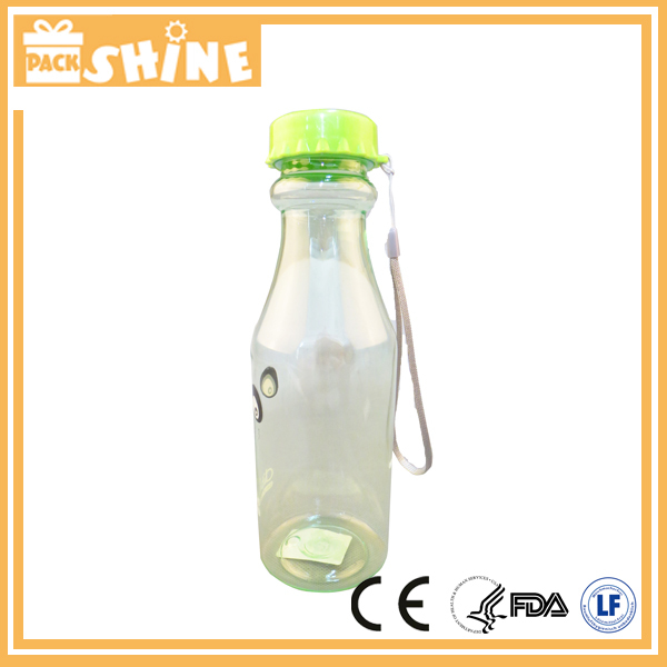 Personalized Plastic Beer Bottle Shaped Water Bottle 250ml