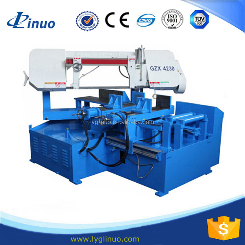horizontal double column cnc rotary bandsaw