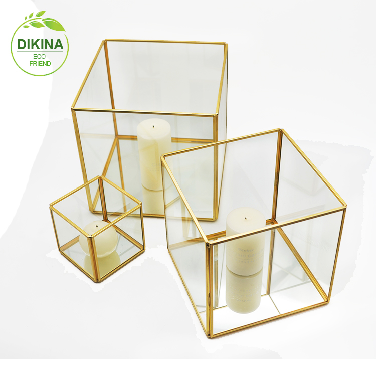 Stained Glass Display BoxClear Glass Jewelry BoxPyramid With