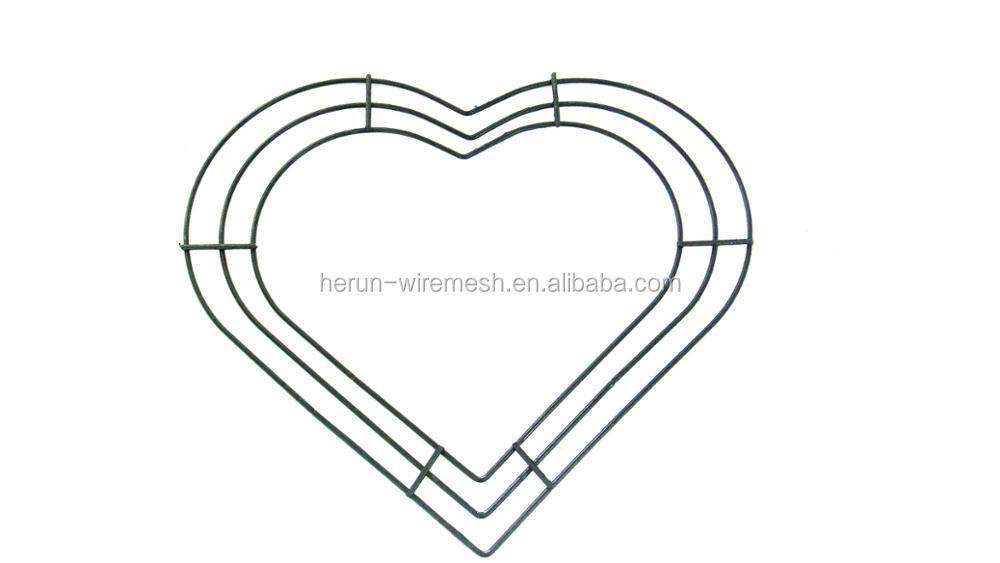 Herzförmigen Hochzeit Kranz/metall Herzform Draht Kranz Rahmen - Buy ...