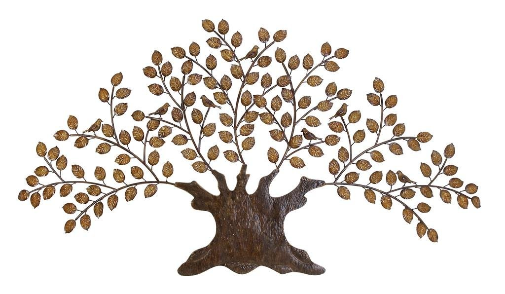 Deco 79 63186 Rustic Metal Tree Wall Decor 48 By 24 Inch Brown Black