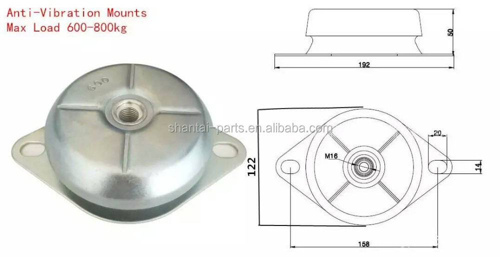 Feet Pad Damper Engine Generator Rubber Mount Anti