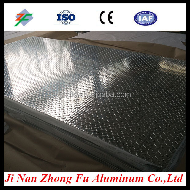 Diamond aluminum tread plate/pointer pattern embossed aluminum sheet