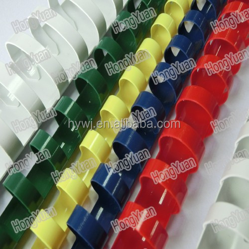 21rings pvc plastic binding comb with SGS test,binding comb plastic ring
