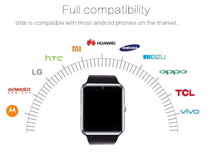 2018 Hot Selling Cheap DZ09 A1 X6 Z60 Q18 GT08 Smart Watch Phone China Watch Factory