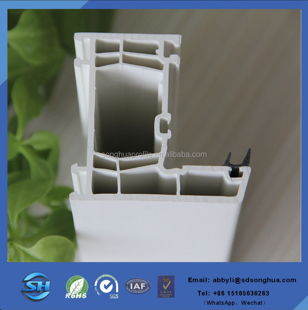 New design customized White PVC profile MOQ one 40HQ container