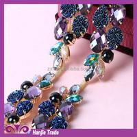 Wholesale rhinestone cup chain rhinestone lace roll chain