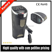 Newly released digital lcd display dc/ac power inverter for car with a cup shape