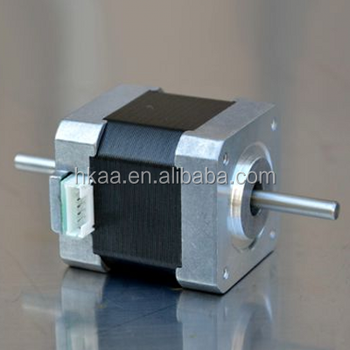 Factory price high quality mini double shaft stepper motor for Double shaft stepper motor