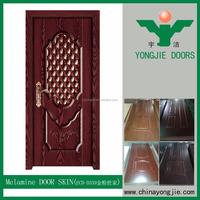 Latest Design Interior Room Mdf Molded Melamine wood veneer door skin
