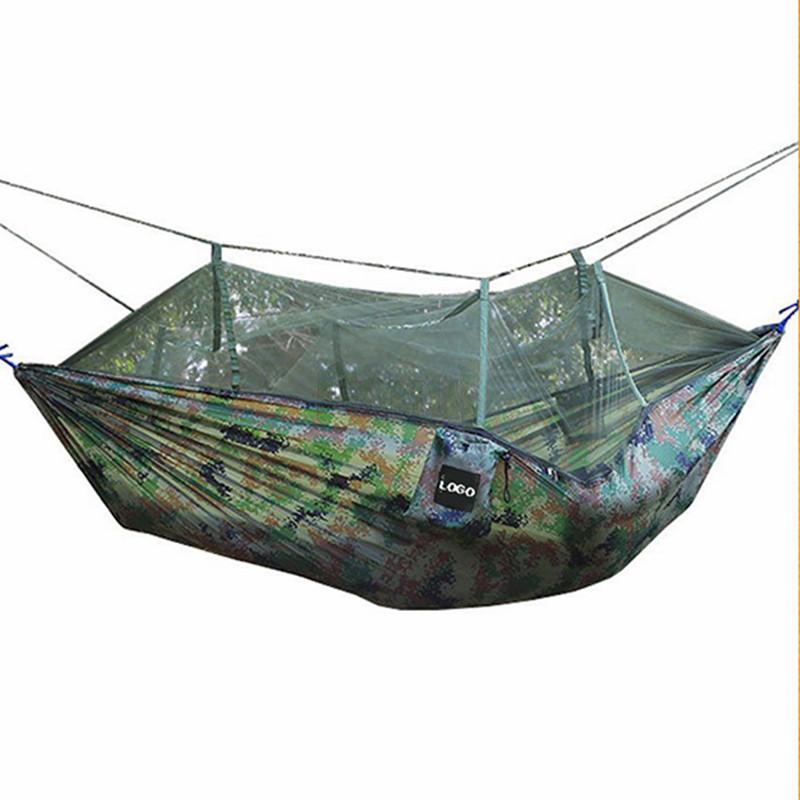Hangmat Te Koop.210 T Nylon Draagbare Parachute Hangmat Met Klamboe Outdoor Mosquito