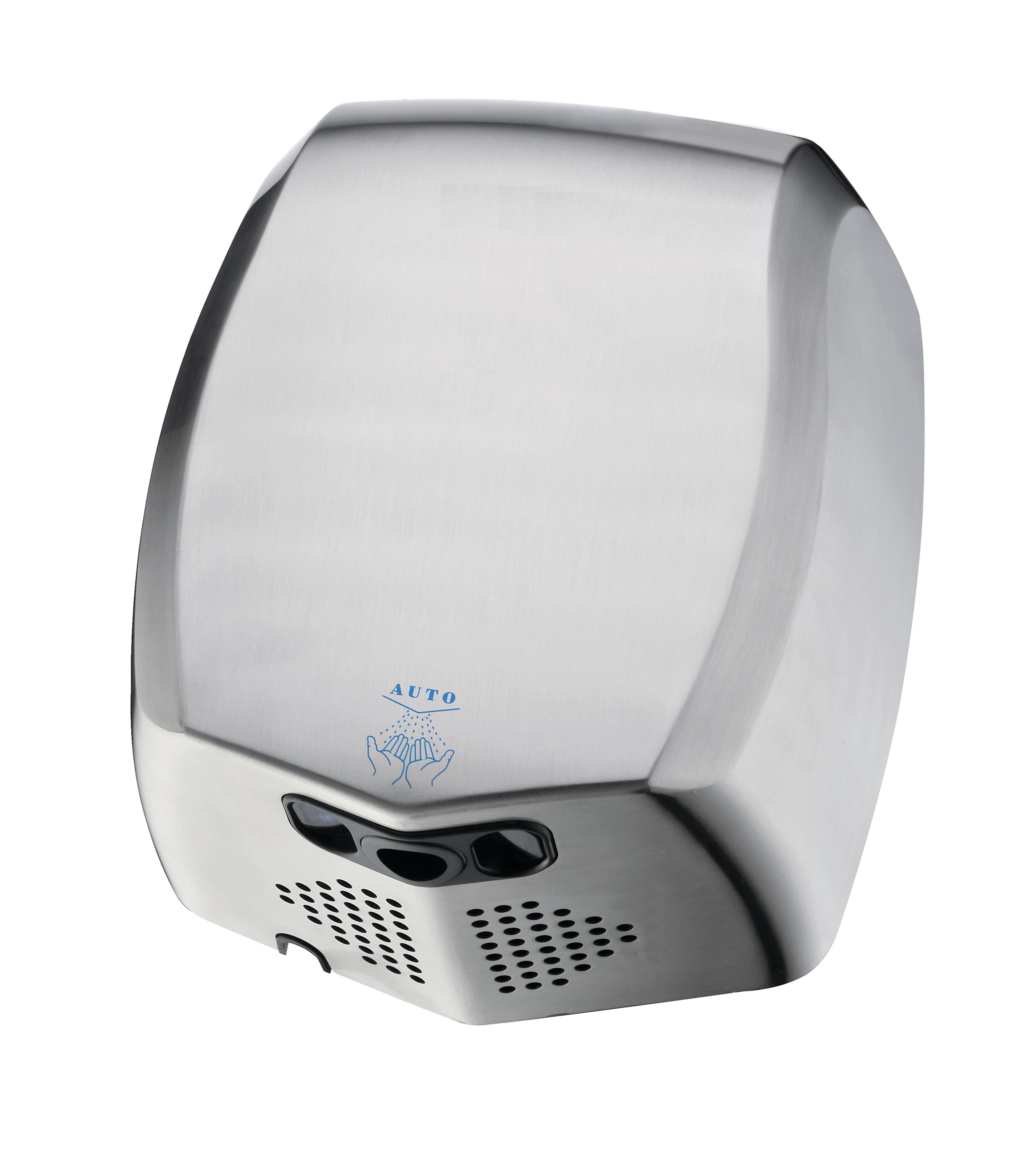 Hotel Bathroom Dedicated  Infrared Sensor Automatic Stainless Steel Hand Dryer Mini