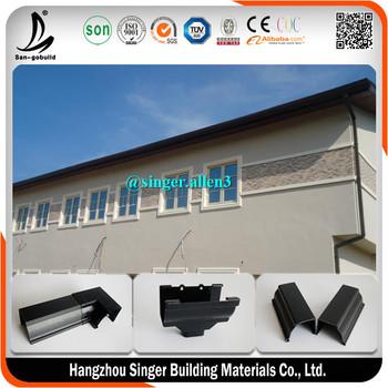 High Quality Plastic Pvc Rain Eave Gutter System Eaves