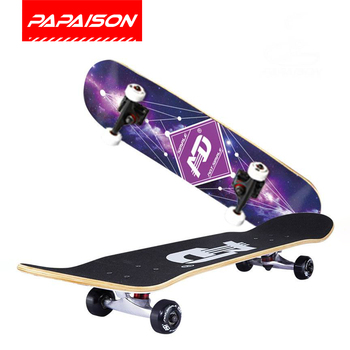wholesale 95A PU wheels 31x8 inch double kick tail 7 layer canadian maple skateboard