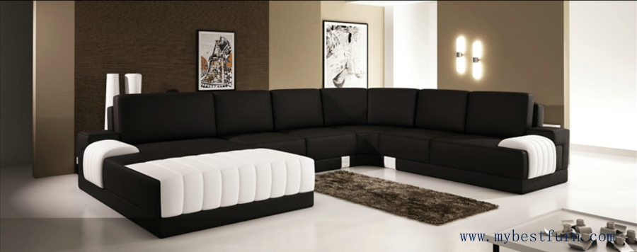 Extra large modern sofa set, Classic black white sofas hot