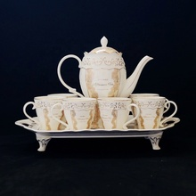 Hot-vendita <span class=keywords><strong>di</strong></span> beni bone china in rilievo <span class=keywords><strong>oro</strong></span> tea set