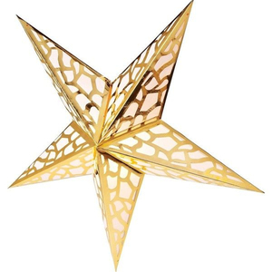 Five pointed paper star lanterns for hanging christmas decoration