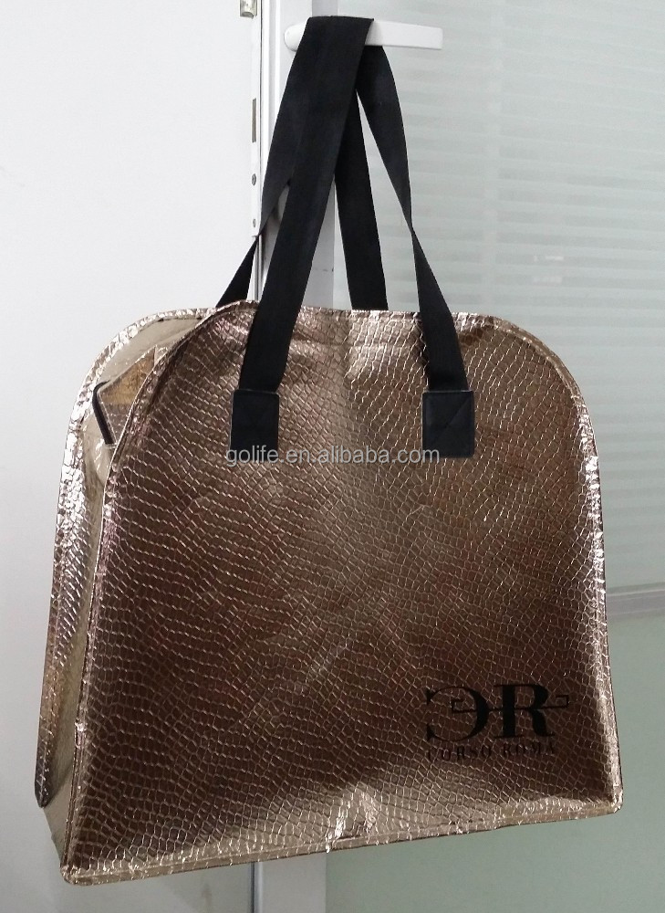 Fish scale pattern laminated on nonwoven bag, Fish scale pattern bag, nonwoven handle bag