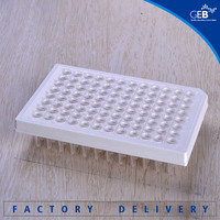 bulk, white, 96 well PCR plate, half skirt, laboratory consumables 200ul