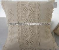 high quality 100% cotton crochet cushion cover of sofa