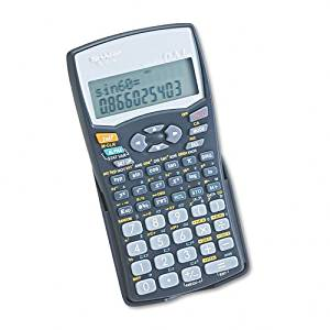Sharp Products - Sharp - EL-531WBBK Scientific Calculator, 10-Digit x 2-Line LCD - Sold As 1 Each - Performs more than 270 advanced functions and has multiline equation playback. - Ideal for students studying general math, algebra, geometry and trigonometry, and can be used for statistics, biology,