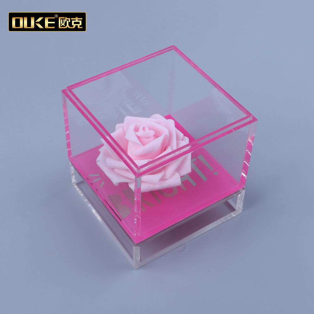 2018 New Clear Custom Packaging Acrylic Gift Box with Lid