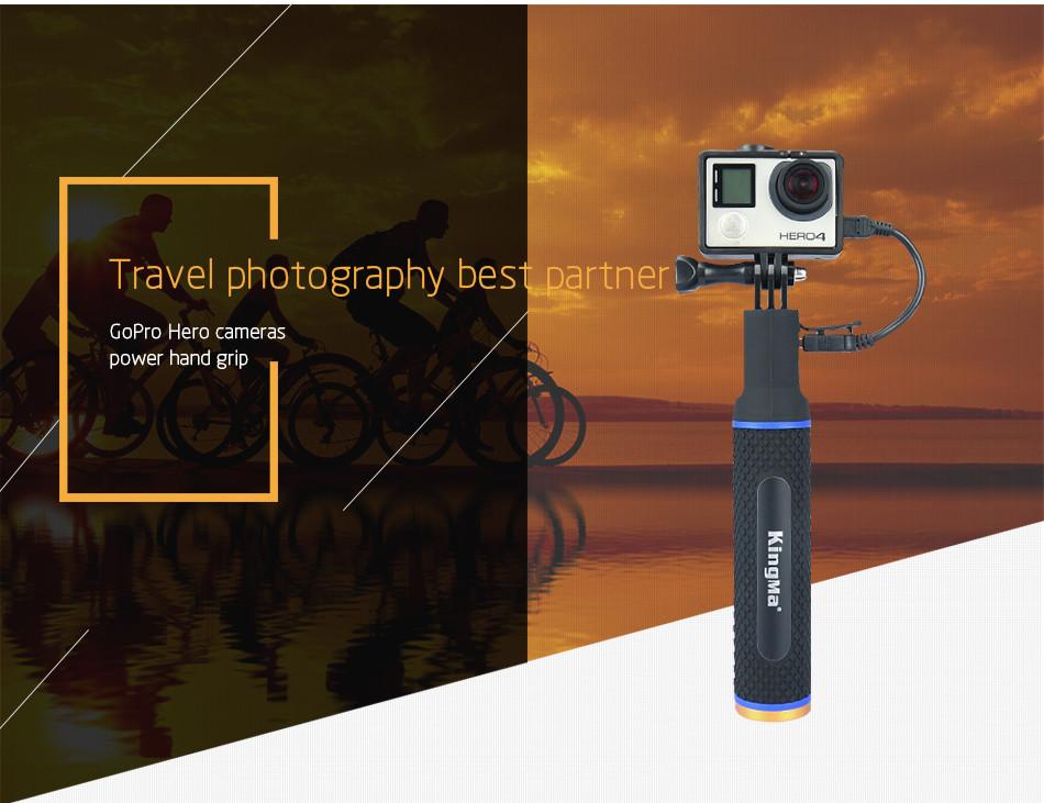 KingMa Monopod Ảnh tự sướng Stick với Build-In Ngân hàng điện 5200mAh cho GoPro Xiaomi SJ4000 Action Máy ảnh