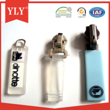 Custom plastic rubber zipper puller with logo