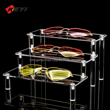 New Design Clear Acrylic Display 3 Step Acrylic Riser for displaying goods