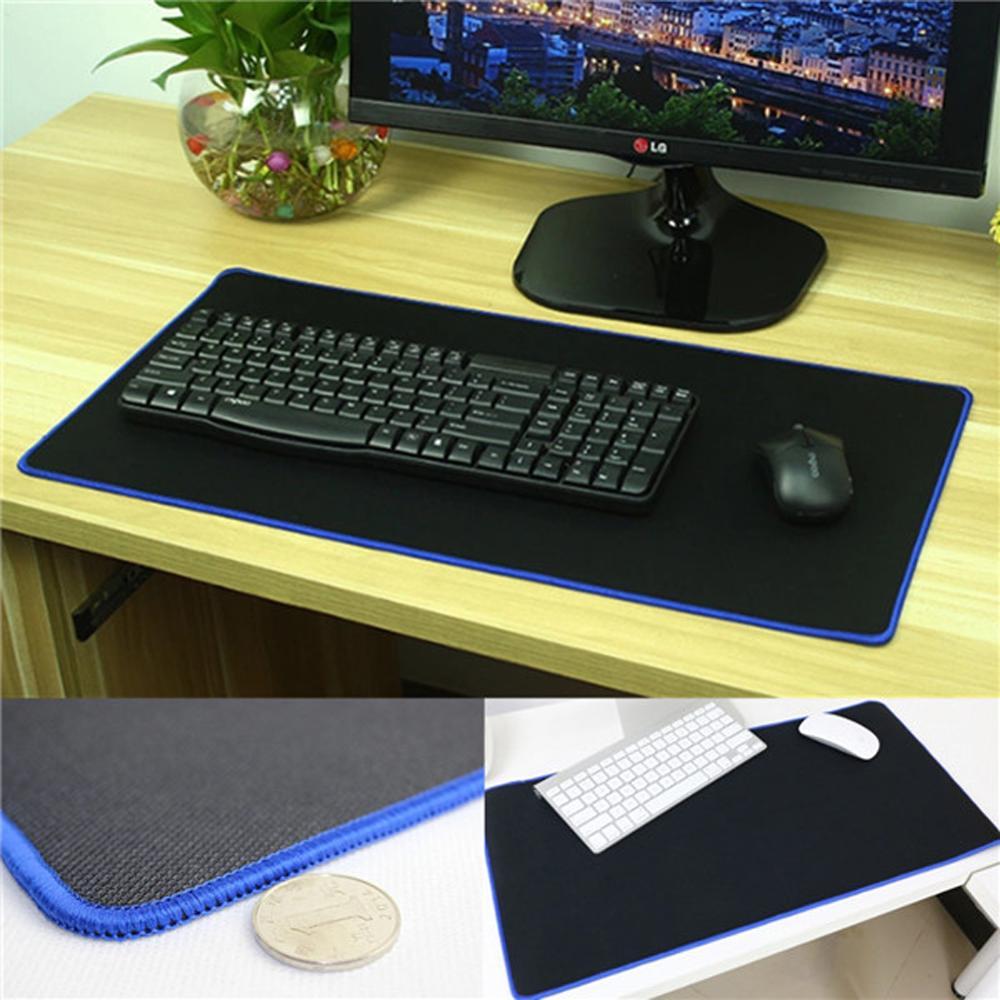 Red//Blue//Black Desktop Keyboard Mat Locking Edge 60*30cm Large Gaming Mouse Pad