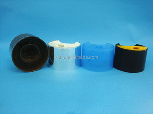 24/410 double wall pp plastic disc top cap or aluminum coated press cap