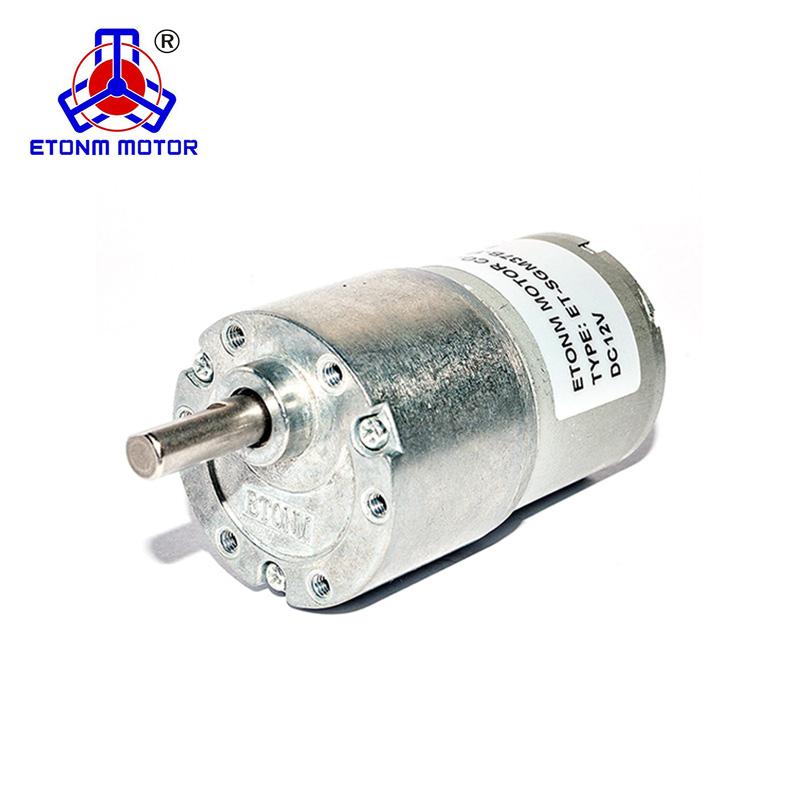 30rpm Mini Gear Box Electric Motor 12v Dc 37mm High Torque