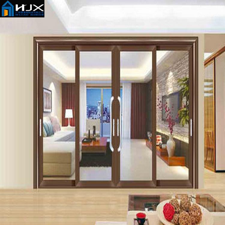 Tiongkok Produsen Penjualan Atas Interior Kaca Pintu Geser Untuk Ruang Tamu