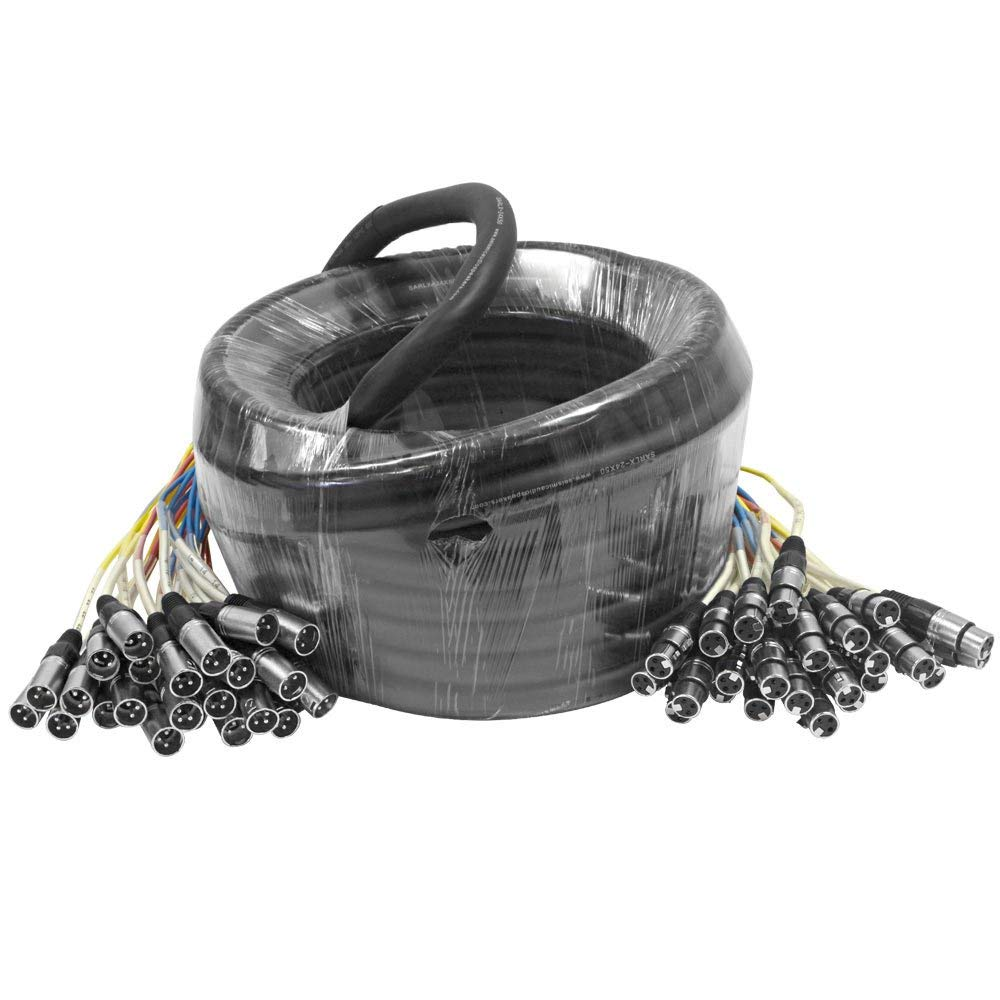 Seismic Audio - SARLX-24x50-24 Channel XLR Color Coded Mutil-Patch Snake Cable 50 Feet - Pro Audio