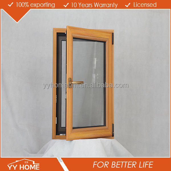 YY factory thermal break soudproof aluminium bronze color window