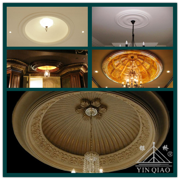 Greek style ornamental plaster of paris ceiling dome buy for Gips decor ceiling