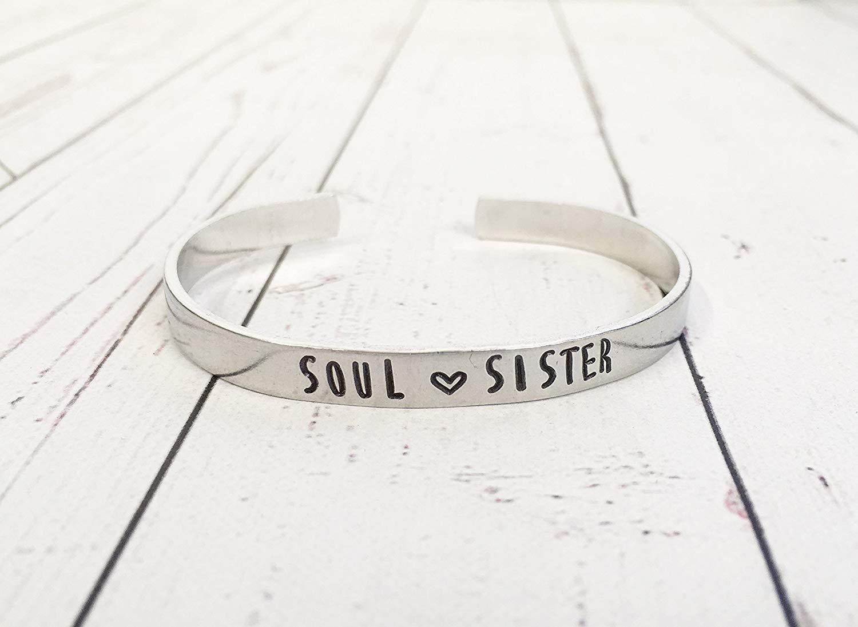 Soul Sister Cuff Bracelet - Hand Stamped Jewelry - Sister Bracelet