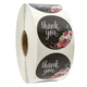 Adhesive Floral Thank You Sealing Sticker Custom Printing Labels