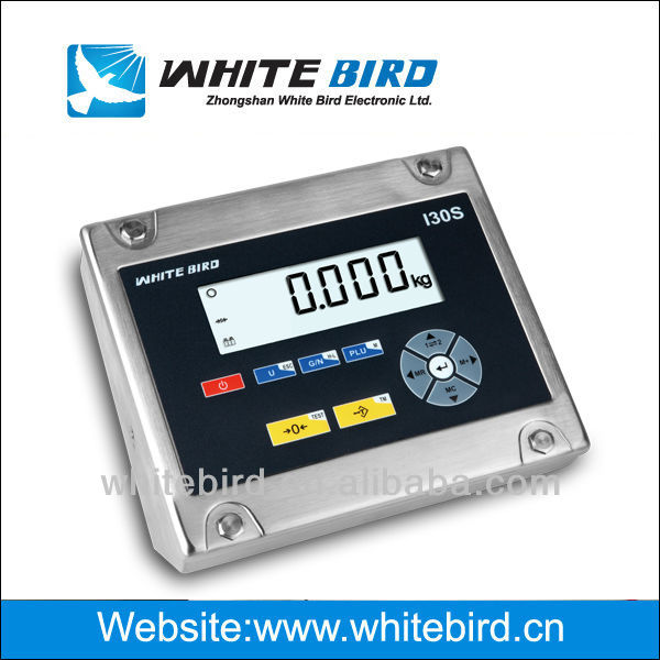 weighing indicator I30S, stainless steel housing, large blacklight LCD display
