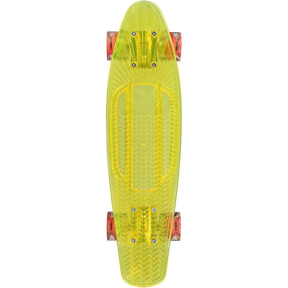 Get Quotations · Sunset Construction Zone Complete Skateboard - Yellow  Deck Orange LED Wheels 7e818abe77c