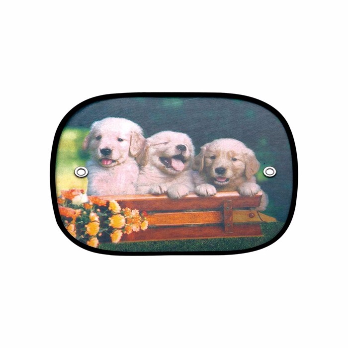 custom printed cartoon animal dog heat resistant curtains car auto