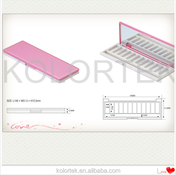 pink square eyeshadow case palette/ empty makeup eyeshadow case/ cosmetic packaging for eyeshadow case