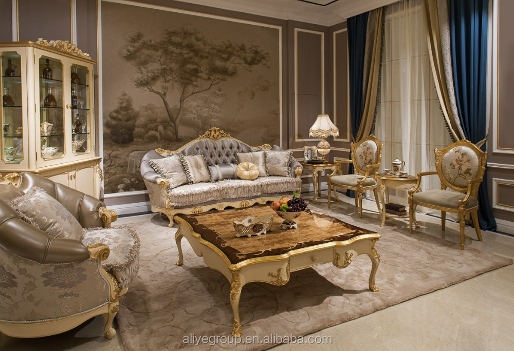 AS09 Royal Classic Sofa Set And Luxury Fabric Living Room Sofa Furniture Part 91