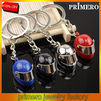 Hot Sale! Car Parts Motorcycle Bicycle Helmet Auto Key Chain Key Ring