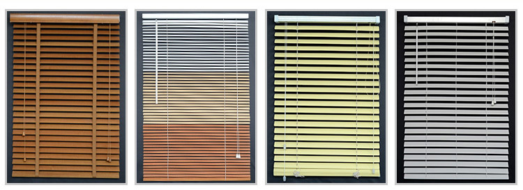 Different types fauxwood impressions 2 inch window blinds