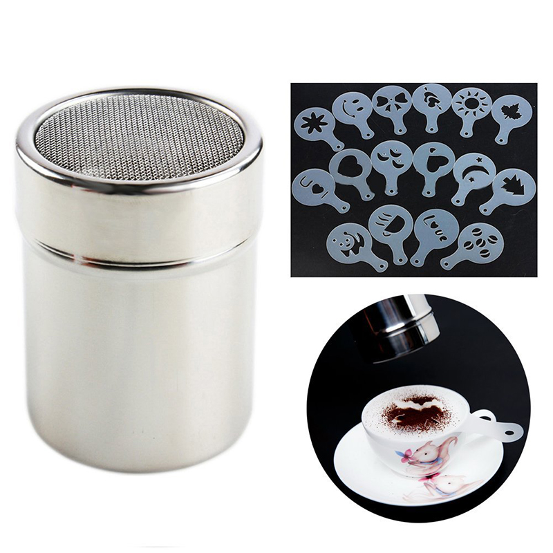Cooking Tools Stainless Steel Chocolate Cocoa Shaker Duster , Coffee Cocoa Powder Shakers