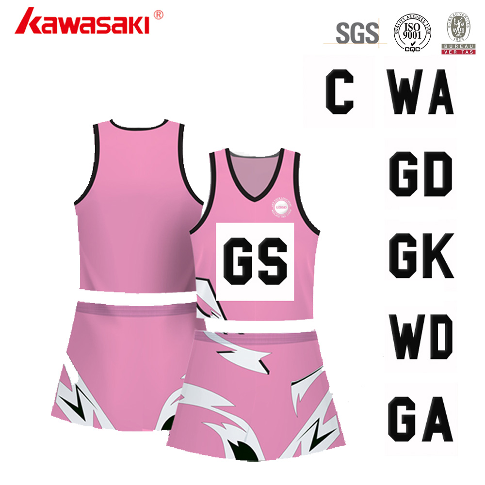 Cheap Price Sublimated Pattern Print Girls Sexy Netball Dress