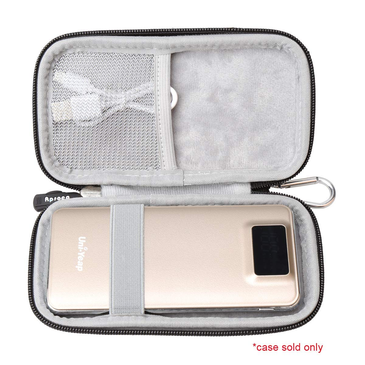 Uni-Yeap 11000mAh External Battery Charger Power Bank Hard Travel Carrying Case Aproca